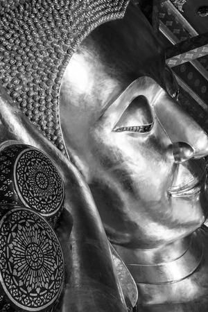 reclining: Reclining Buddha at Pamok Temple, Thailand.