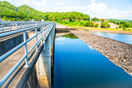 hand rail: Landscape of Mae Ping Ton Lang Dam, Thailand.