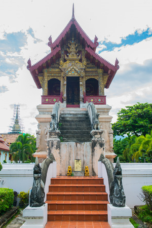 scripture: A hall for keeping the scripture at temple, Thailand