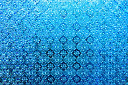 glass panel: Texture of blue glass panel, Thailand.