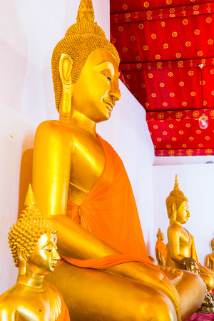 smiling buddha: Ancient smiling buddha at Thai temple, Thailand.