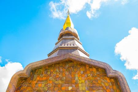 maha: Phra Maha Dhatu Nabha Metaneedol stupa at Chiangmai province, Thailand.