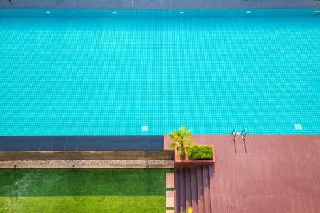 landscape stones: Swiming Pool in The Garden, Thailand. Stock Photo