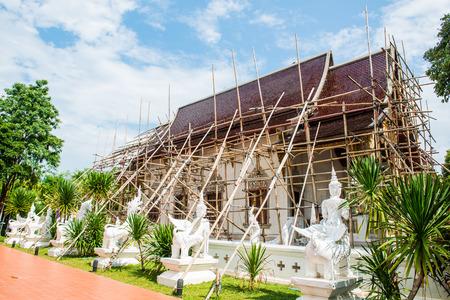 lanna: Thai Style Lanna Church of Darabhirom Forest Monastery at Chiangmai Province, Thailand.