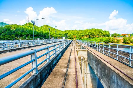 ton: Rail Way on Mae Ping Ton Lang Dam, Thailand.