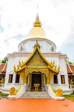 chiangmai province: Prabudabath Si Roi Pagoda of Darabhirom Forest Monastery at Chiangmai Province, Thailand. Stock Photo