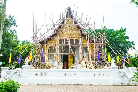 chiangmai province: Thai Style Lanna Church of Darabhirom Forest Monastery at Chiangmai Province, Thailand.