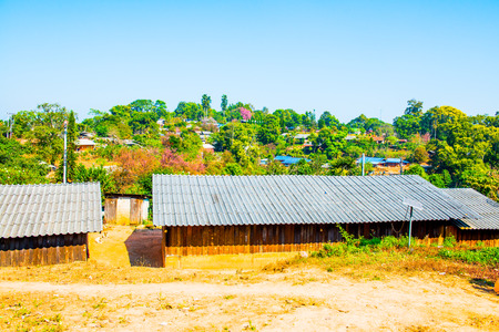 cluster house: Landscape of Khun Changkien Village, Thailand. Stock Photo