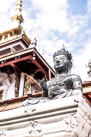 chiangmai province: Buddha Statue of Darabhirom Forest Monastery at Chiangmai Province, Thailand.