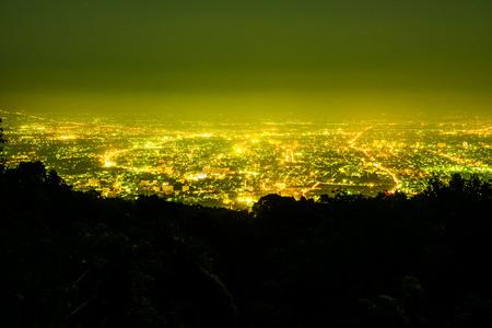 chiangmai province: Night view of Chiangmai province,Thailand. Stock Photo