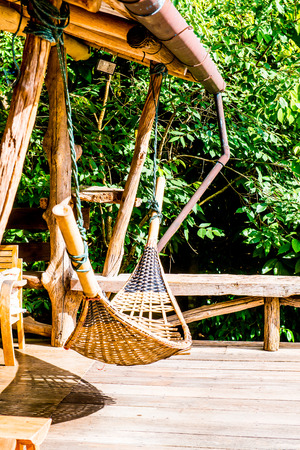 bamboo hammock in thai country thailand  photo bamboo hammock in thai country thailand  stock photo picture and      rh   123rf
