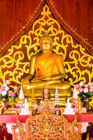 chiangmai province: Lanna Style Buddha at Chiangmai Province, Thailand.