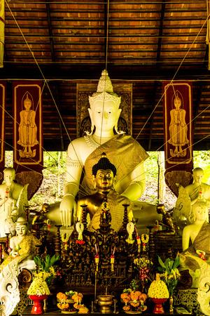 Thai Lanna Buddha at Pha Lat Temple, Thailand.