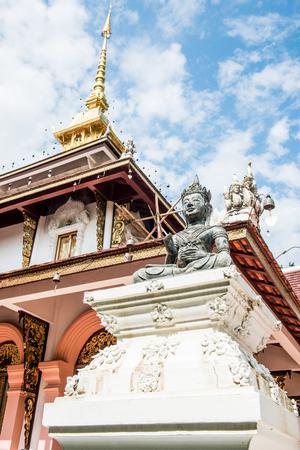 chiangmai province: Buddha Statue with Mondop of Darabhirom Forest Monastery at Chiangmai Province, Thailand.