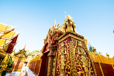 chiangmai province: Landscape of Wat Phrathat Doi Suthep temple in Chiang Mai, Thailand.