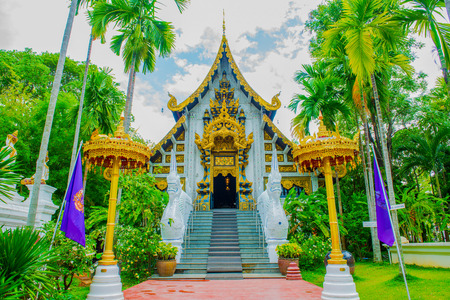 chiangmai province: The Grand Vihara of Darabhirom Forest Monastery at Chiangmai Province, Thailand.