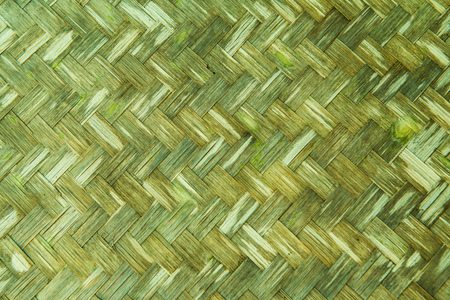interlock: Background of woven bamboo wall, Thailand.