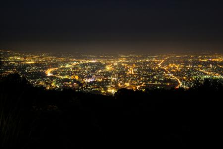 Night view of Chiangmai province,Thailand. Stock Photo