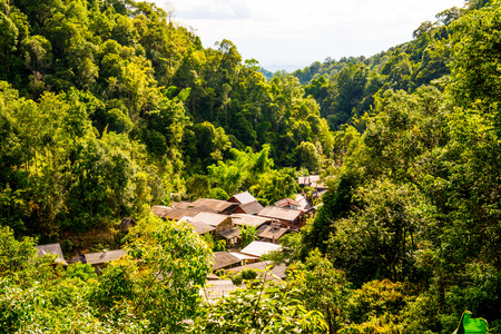Small village in the forest, Thailand.