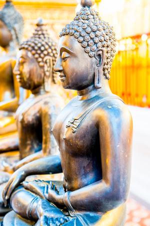 thai believe: Ancient Buddha Statue in Thai, Thailand