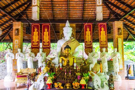 thai buddha: Thai Lanna Buddha at Pha Lat Temple, Thailand.
