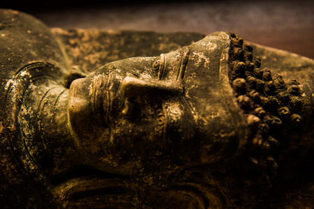 buddha face: Buddha face, Thailand. Stock Photo