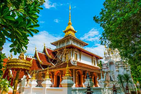 chiangmai province: Phra Chao Than Jai Mondop of Darabhirom Forest Monastery at Chiangmai Province, Thailand.