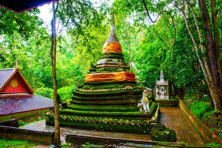 lat: Ancient Pagoda at Pha Lat Temple, Thailand. Stock Photo
