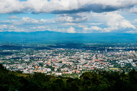 mai: Chiangmai city at view point, Thailand.