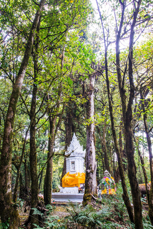 king of thailand: King Inthanon Memorial Shrine in Doi Inthanon National Park, Thailand