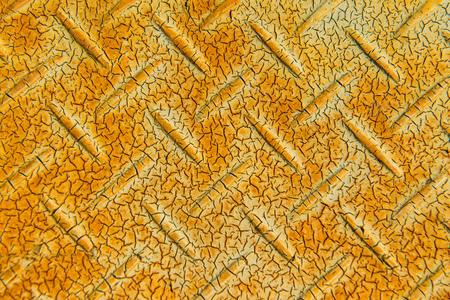 nonslip: Old checkered steel plate, Thailand