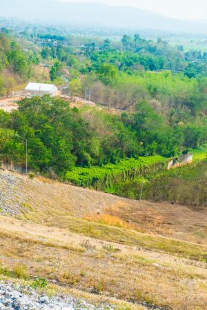 spillway: Road on Mae Ngat Somboon Chon dam, Thailand