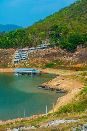 chiangmai province: Landscape view of Mae Ngat Somboon Chon dam, Thailand