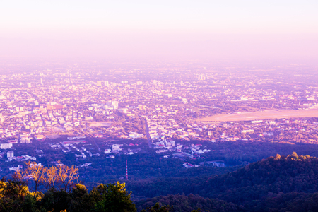 chiangmai province: Chiangmai city at view point, Thailand.