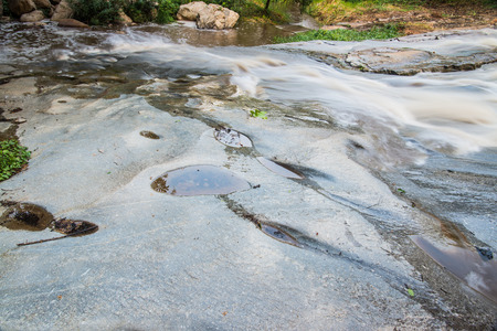 sa: Water Flowing at Mae Sa Waterfall, Thailand