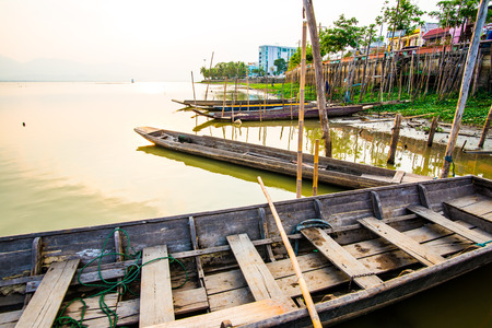 thai style: Thai style boat in the lake, Thailand