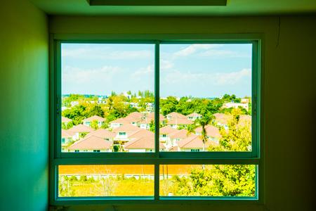 see through: See through window, Thailand. Stock Photo