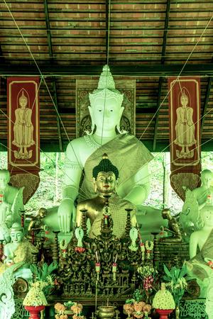 lanna: Thai Lanna Buddha at Pha Lat Temple, Thailand.