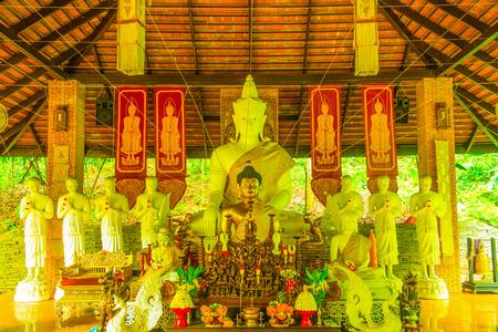 lat: Thai Lanna Buddha at Pha Lat Temple, Thailand.