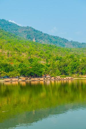 huay: View of Huay Tueng Tao lake in Chiangmai province, Thailand.