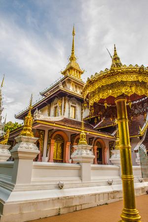pyramidal: Phra Chao Than Jai Mondop of Darabhirom Forest Monastery at Chiangmai Province, Thailand.