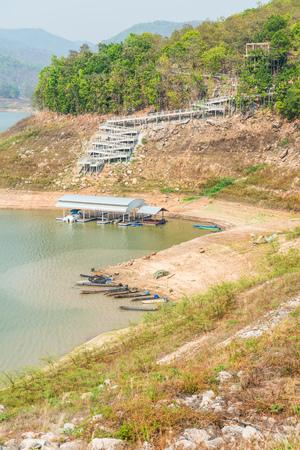 chon: Landscape view of Mae Ngat Somboon Chon dam, Thailand
