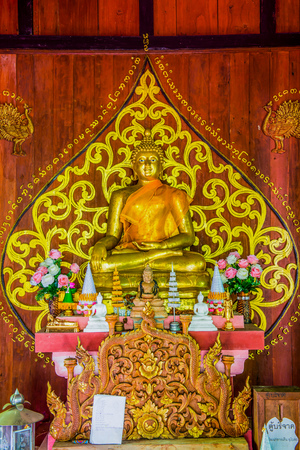 lanna: Lanna Style Buddha at Chiangmai Province, Thailand.