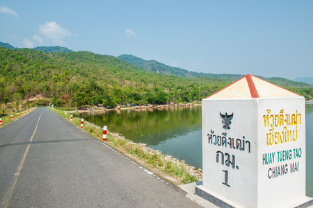 huay: View of Huay Tueng Tao lake in Chiangmai province, Thailand.