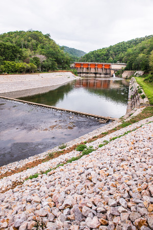 hydroelectric station: Landscape view of Kio Lom dam, Thailand Stock Photo