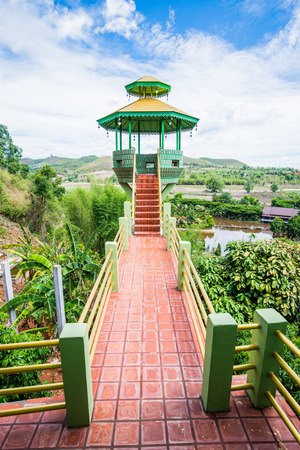 View Tower at Chiangrai Province, Thailand Stock Photo