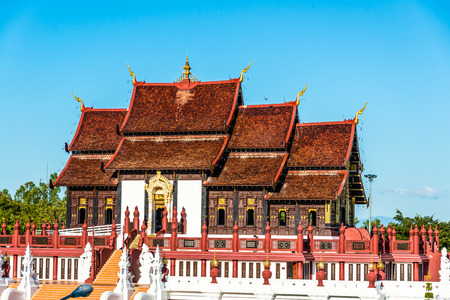 the royal park: Royal Pavilion in Royal Park Rajapruek, Thailand