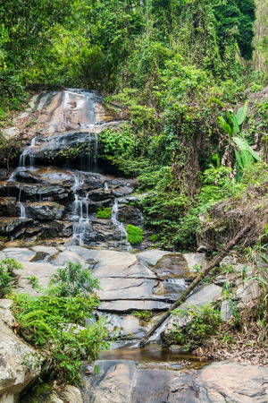 chiangmai province: Monthathan waterfall in Chiangmai province, Thailand Stock Photo