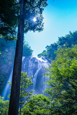 Klonglan waterfall in national park, Thailand. Stock Photo