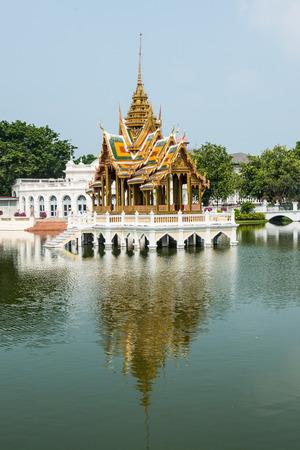 The Phra Thinang Aisawan Thiphya-Art Pavilion at Bang Pa-In Palace, Thailand.